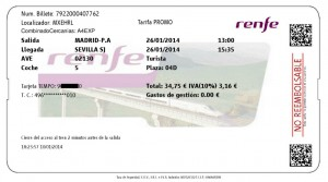 Renfe Tour Ticket