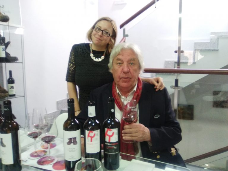 Our wine expert Nicola with the Chairman
